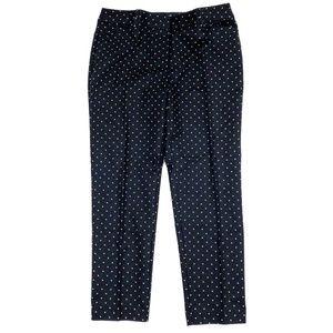 Liz Claiborne Pants Crop Black Polka Dot Size 10
